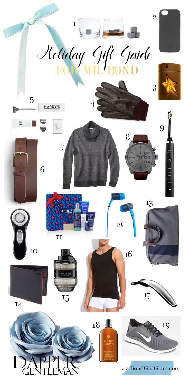 Gift Guide for Mr. Bond on BondGirlGlam.com