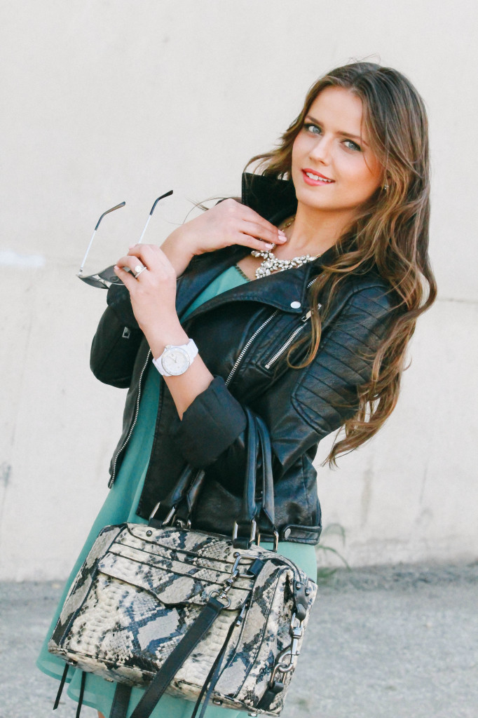 #OOTD // Feminine Layers & Tough-Girl Leather | BondGirlGlam.com