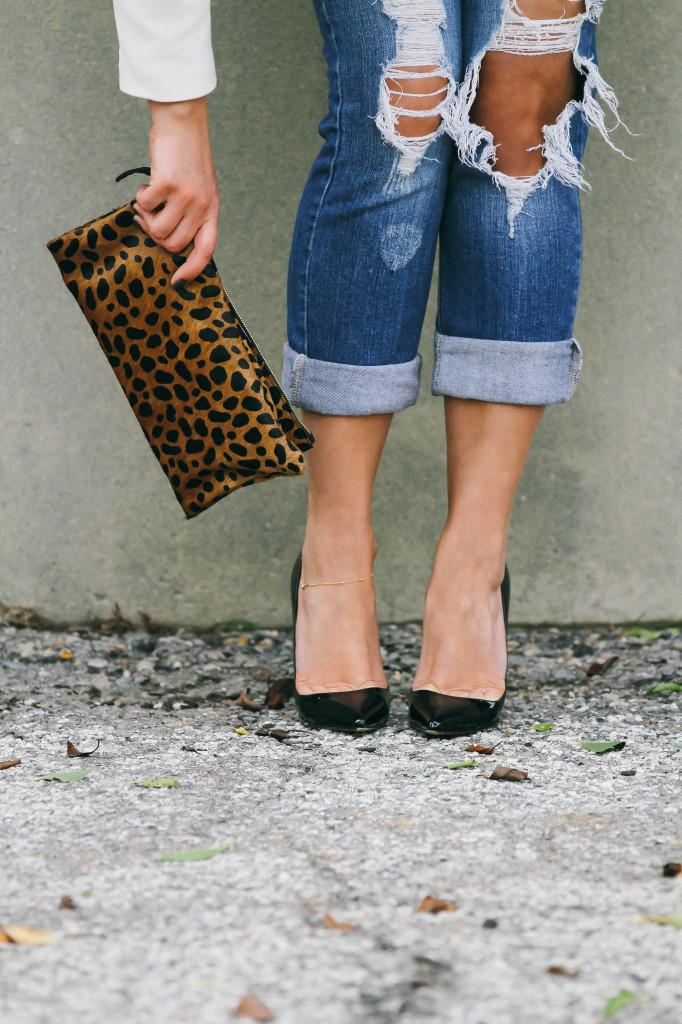 #OOTD // Leopard Print & Ripped Jeans   BondGirlGlam.com