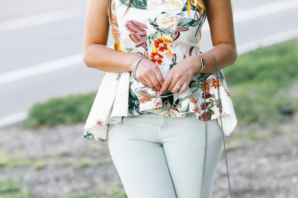 #OOTD // Botanical Peplum & Pastel Green