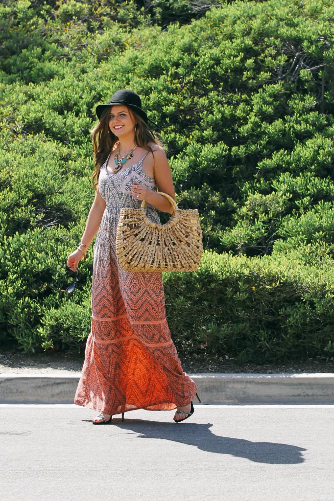 #OOTD // Bohemian Glam Maxi Dress | BondGirlGlam.com
