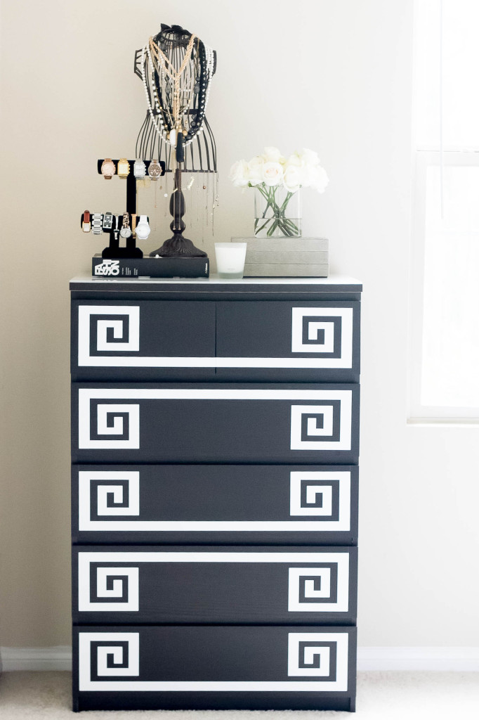 Ikea Hack // DIY Greek Key Dresser | BondGirlGlam.com