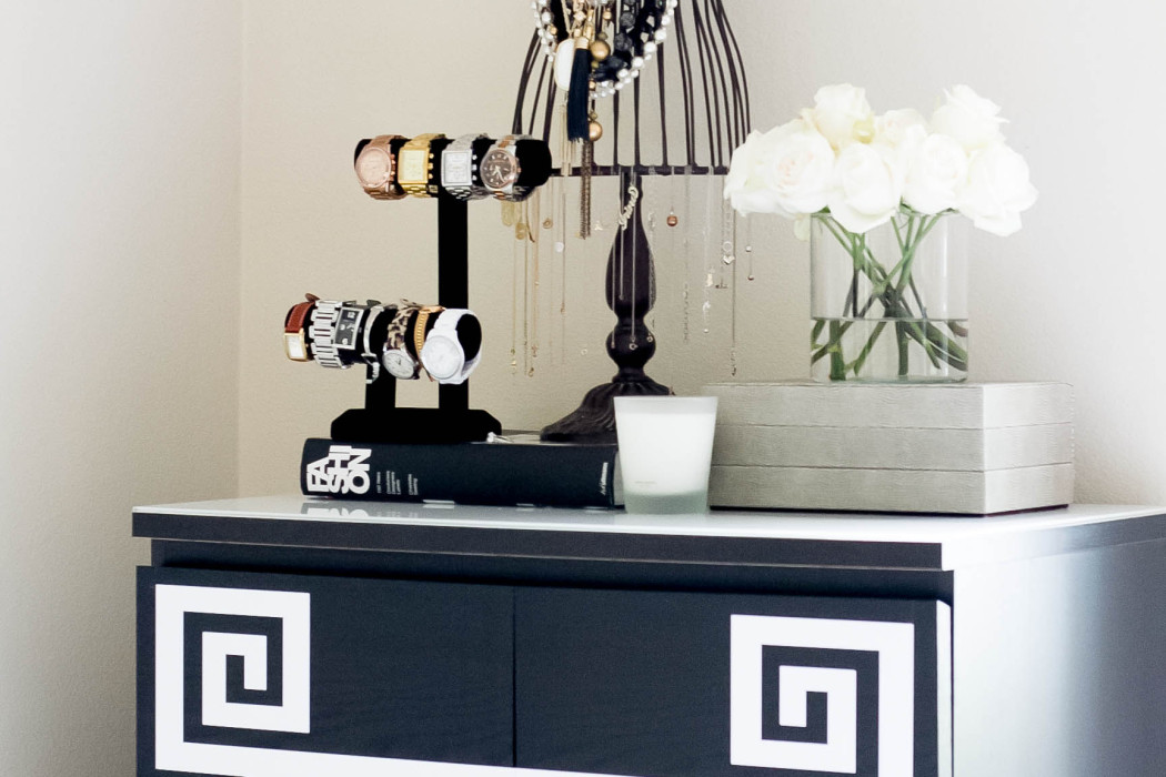How To Diy Greek Key Dresser Bondgirlglam Com