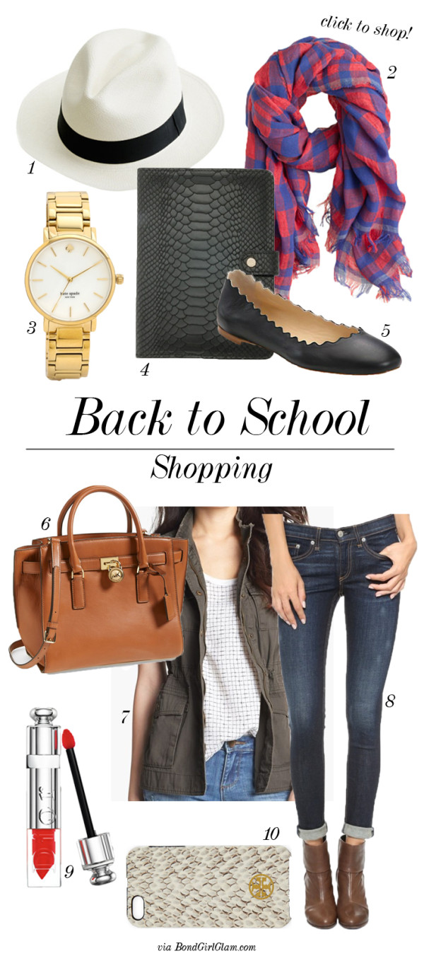 Back To School Shopping | BondGirlGlam.com