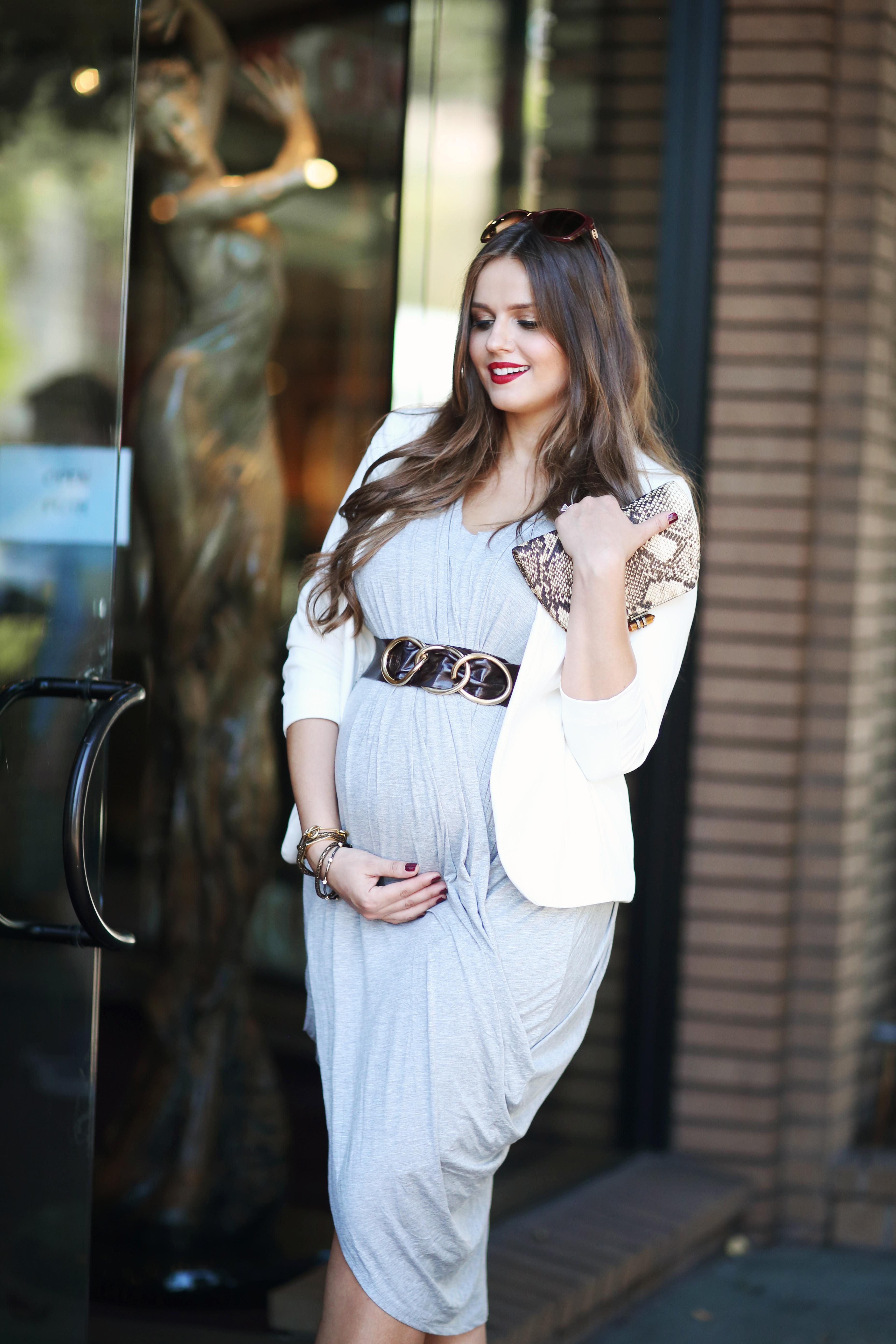 Bumpstyle Drape Front Goddess Dress A Fashion Baby Gear Beauty