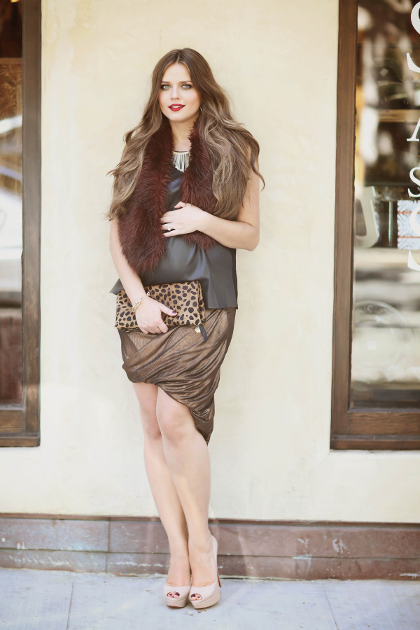 #BumpStyle // Leather, Fur, & An Asymmetrical Skirt | BondGirlGlam.com