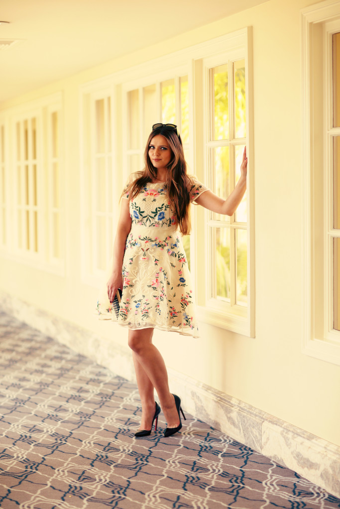 #OOTD // Embroidered Floral Dress & Pigalles | BondGirlGlam.com
