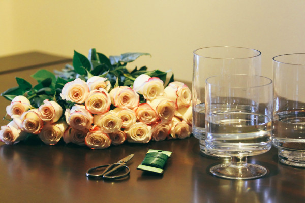HOW TO // Simple Flower Arrangements at Home | BondGirlGlam.com