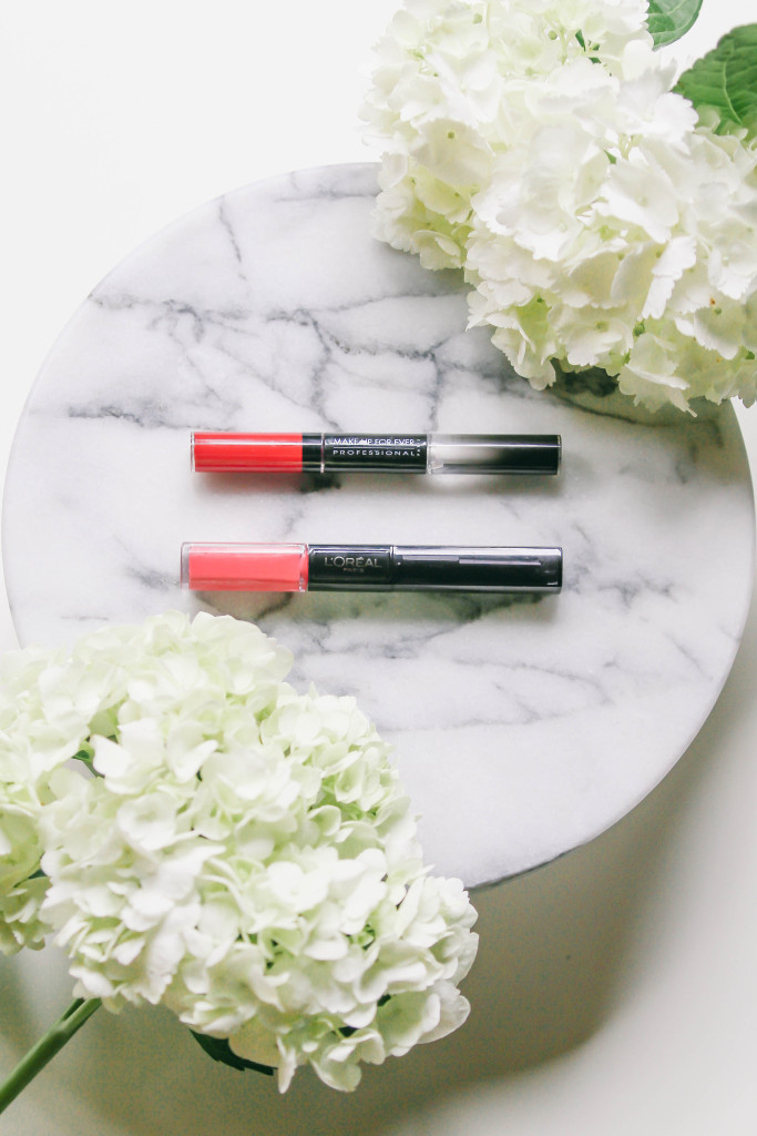 High-End Vs. Drugstore // Make Up For Ever & L'Oreal Paris Long-Lasting Lips | BondGirlGlam.com