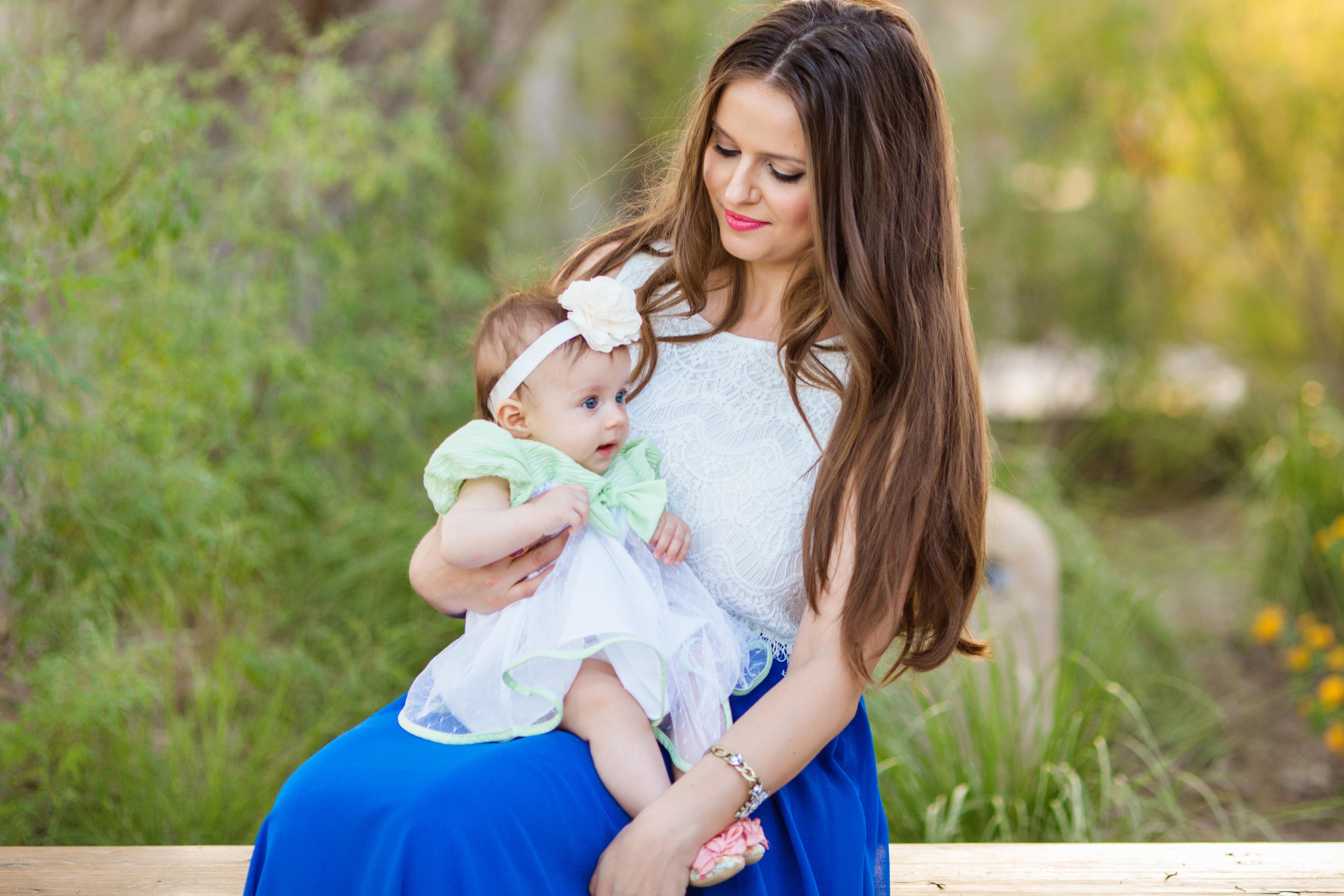 #OOTD // Lace Crop Top & Cobalt Blue Maxi Skirt