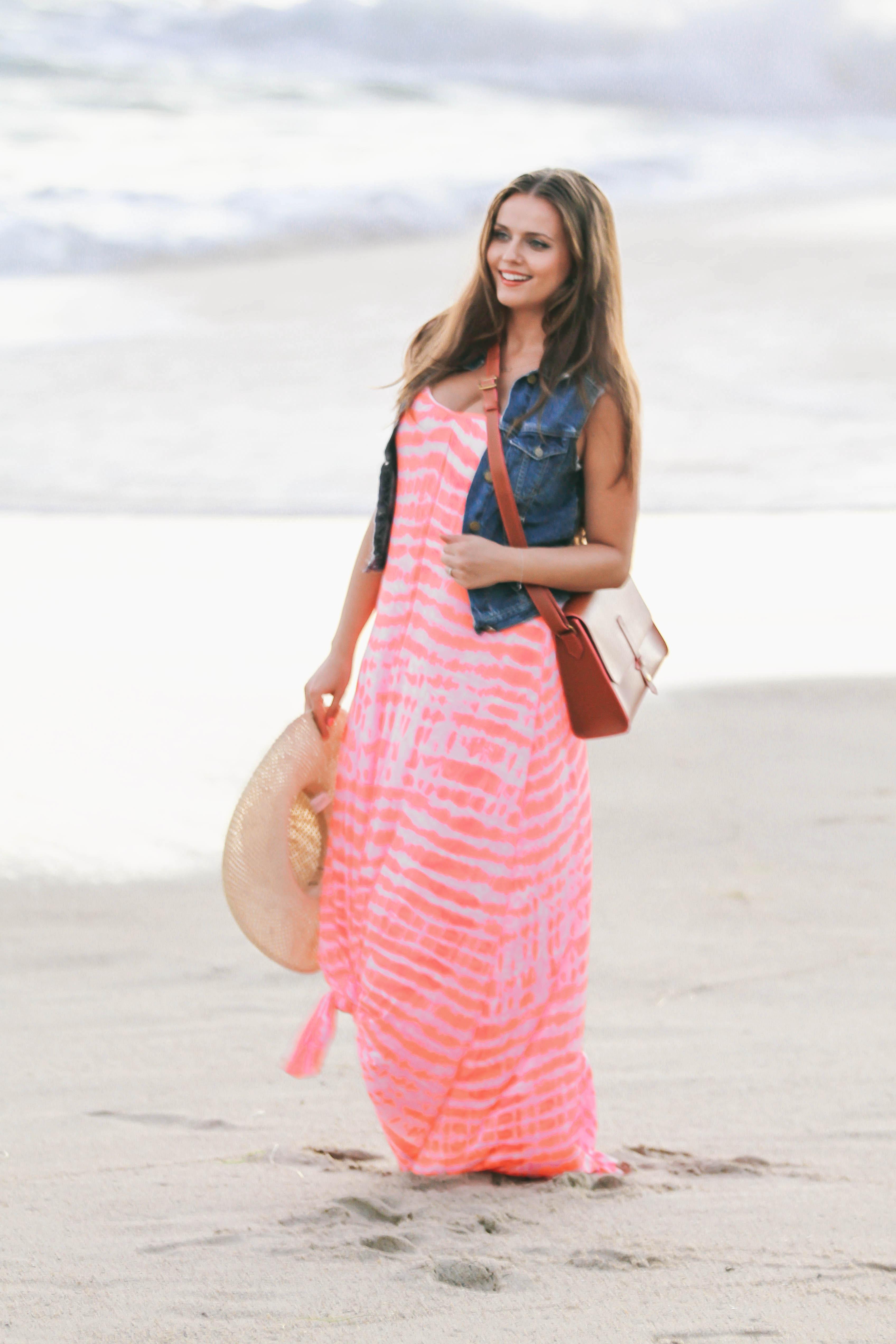 Ootd Tie Dye Maxi On The Beach Bondgirlglam Com