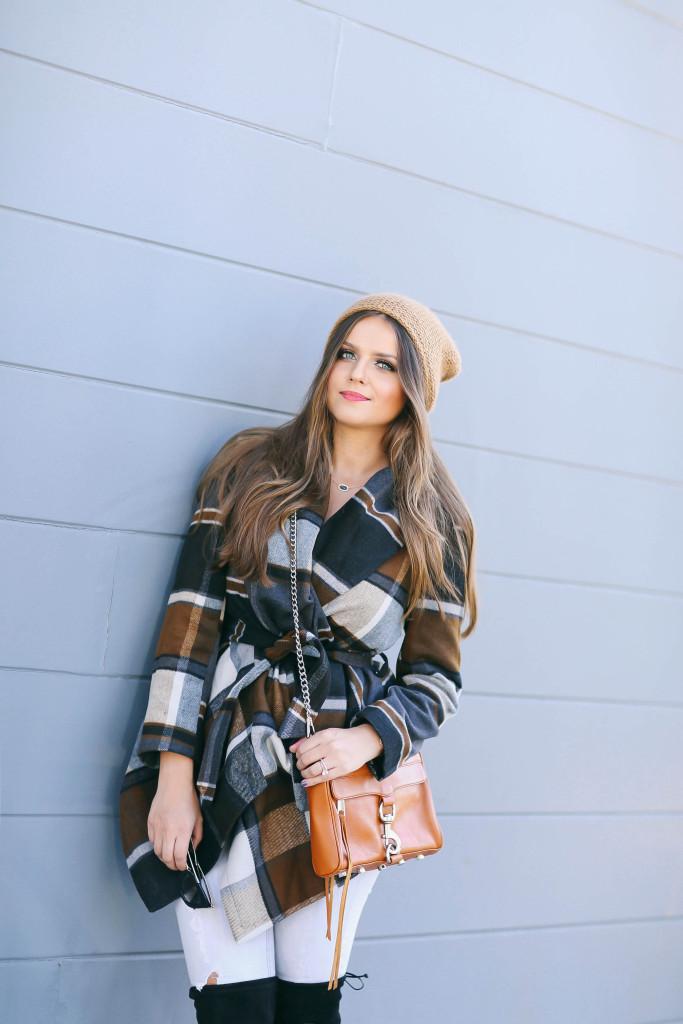 #OOTD // Check Print Coat & Grey Skinny Jeans | BondGirlGlam.com
