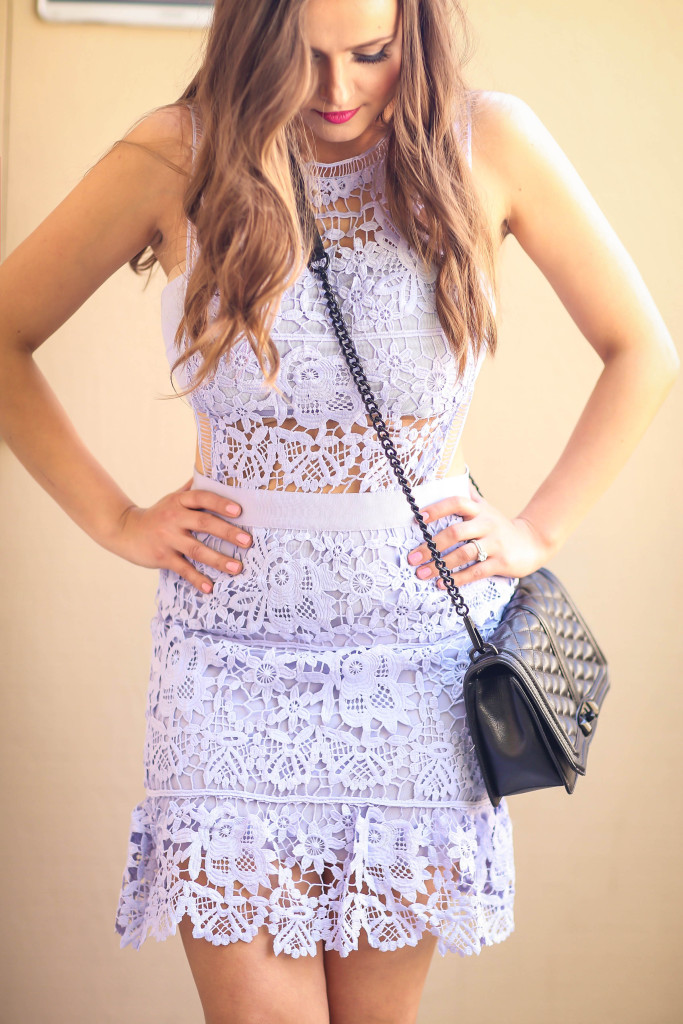 #OOTD // Light Blue Lace Mini Dress | BondGirlGlam.com