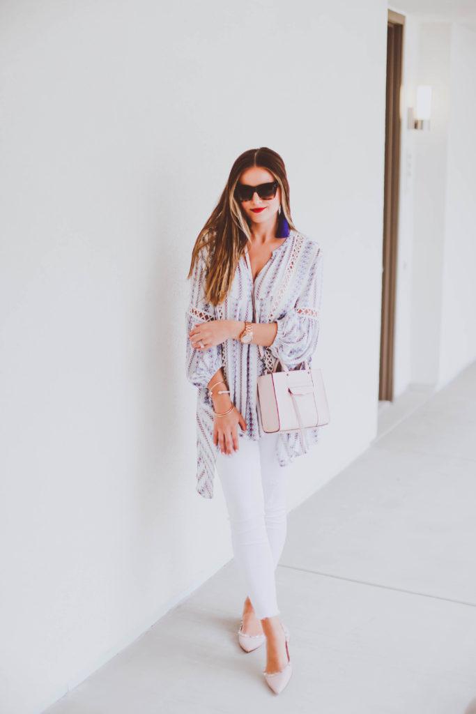 #OOTD // Flowy Tunic & Frayed Skinny Jeans | BondGirlGlam.com