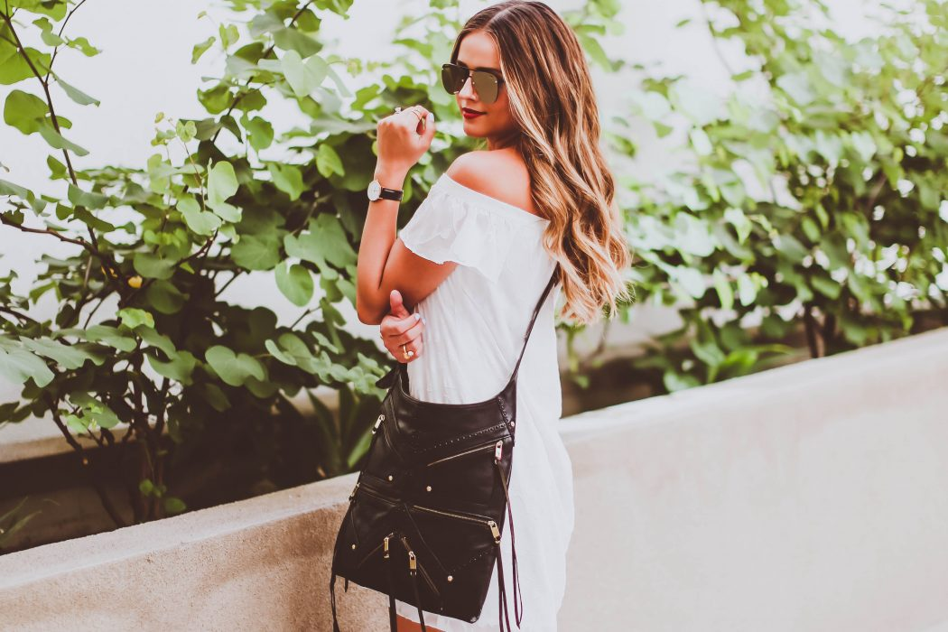 #OOTD // White Off-the-Shoulder Dress | BondGirlGlam.com