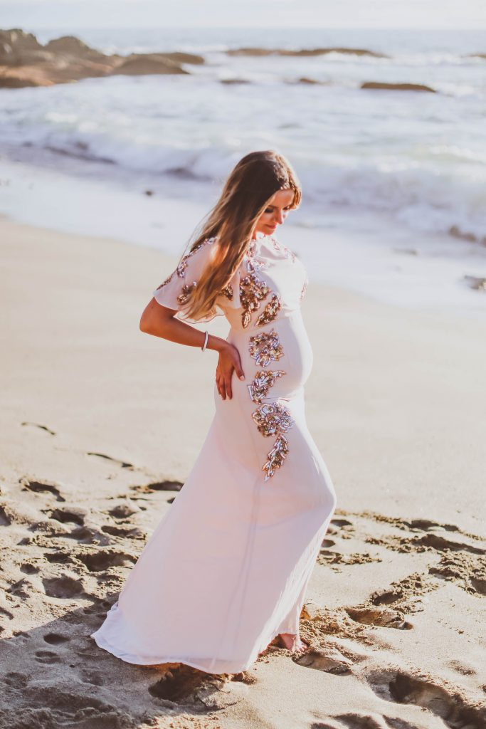 pregnancy announcement, baby number 2, irina bond, bond girl glam, beach