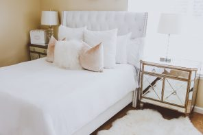 Glam White Velvet & Fur Master Bedroom