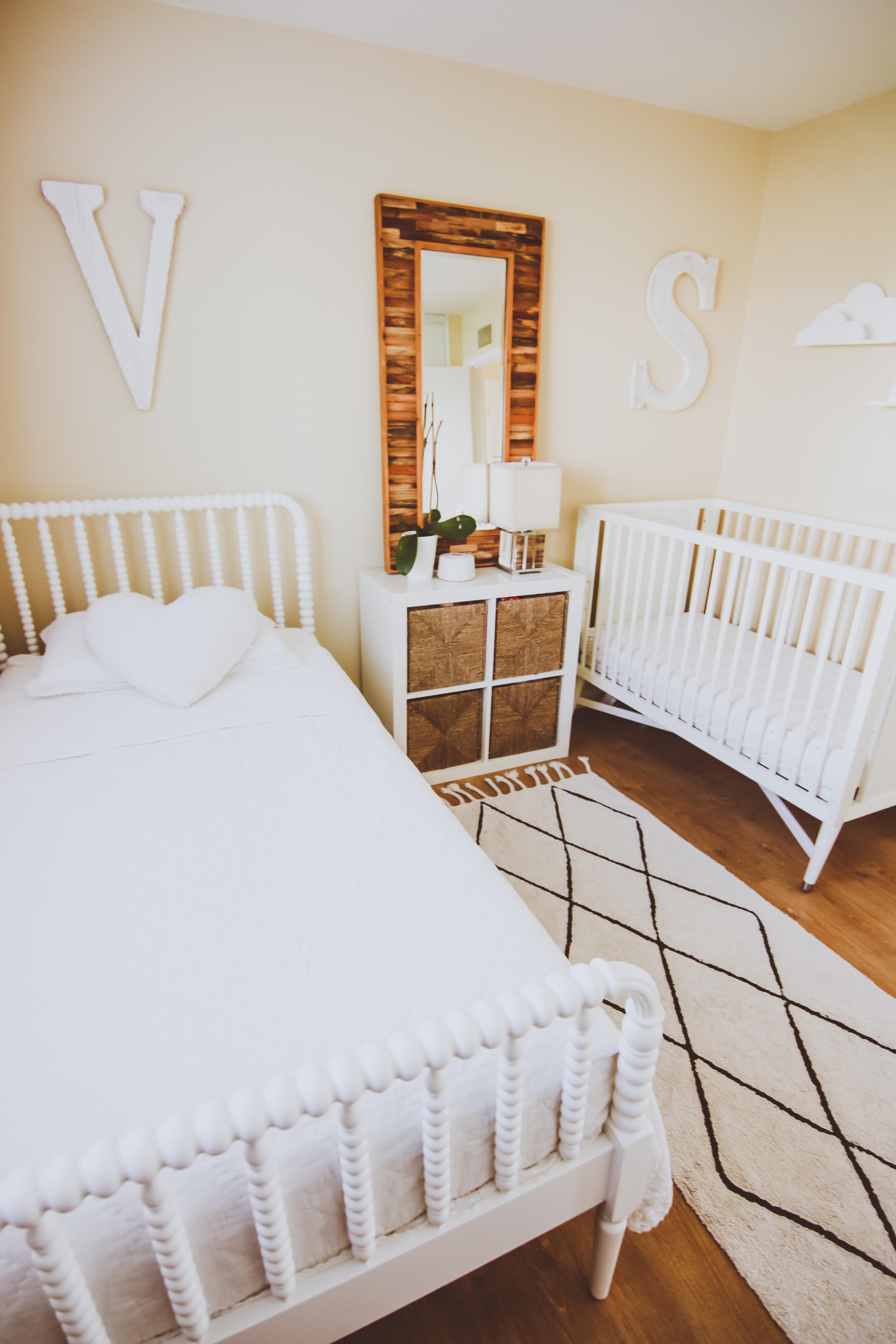 Neutral Shared Boy & Girl Kids Bedroom   BondGirlGlam.com