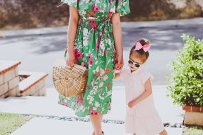 Mommy & Me #OOTD // Green & Pink Spring Dresses