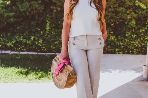 #OOTD // Ivory Sleeveless Knit Top & Linen Sailor Pants