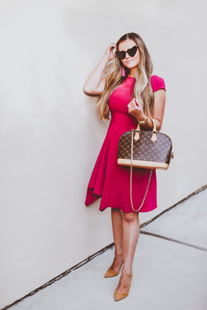 #OOTD // The Perfect Fit & Flare Office Dress | BondGirlGlam.com