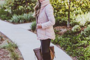 #OOTD // Blush Pink Puffer Coat